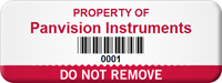 Personalized Do Not Remove Asset Tag with Barcoding