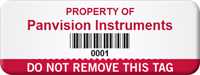 Customizable Do Not Remove Asset Tag with Barcode