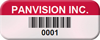 Custom Barcode Tags, 1/2 in. x 1-1/4 in.
