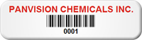 Custom Barcode Tags, 1/2 in. x 1-3/4 in.