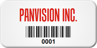 Custom Barcode Tags, 3/4 in. x 1-1/2 in.