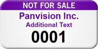 Not For Sale Personalized Asset Tag with Numbering