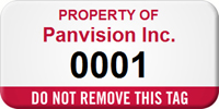 Do Not Remove This Tag Custom Numbered Asset Label
