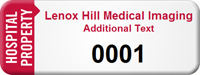 Customized Hospital Property Asset Tag with Numbering