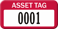Anodized Metal Asset Pre-Numbered Labels