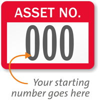 Asset Number Labels, Choose Starting Number