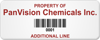 Personalized Property Of Tag, Add Additional Line, Barcode