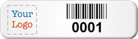Custom Small Barcode Tags with Logo (Full Color)