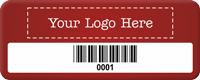 Add Your Logo Here Tag with Barcode