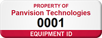 Personalized Equipment ID Numbered Asset Tag