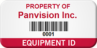 Personalized Property Name, Barcode, Numbering Asset Identification Tag