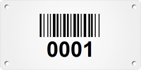 Custom Metal Asset Tag Plates with Barcode Numbering