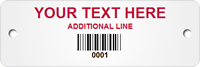 Custom Barcoded Metal Asset Tag Plates