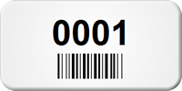 Small Custom Blank Barcode Tags