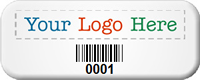 Custom Logo Barcode SunGuard Asset Tags