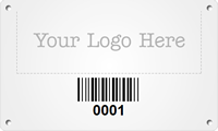Custom Metal Asset Tag Plates with Logo, Barcode