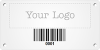 Custom Metal Barcode Asset Tag Plates with Logo