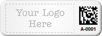 Custom Small 2D Barcode Logo Metal Asset Tag