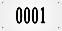 Custom Large Sequential Numbering Metal Asset Tag Plates