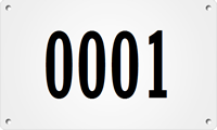 Custom Large Sequential Number Metal Asset Tag Plates