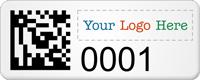 Custom SunGuard 2D Barcode Logo Asset Tags