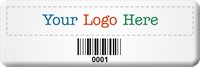 Custom SunGuard Logo Barcode Asset Tag