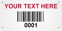 Customizable Metal Asset Tag Plates with Barcode