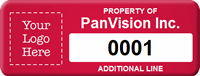 Customizable Property Tag, Add Logo, Text with Numbering
