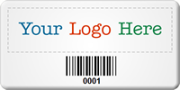 Customizable SunGuard Logo Barcode Asset Tags
