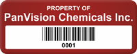 Design Property Of Tag with Barcode, Add Text