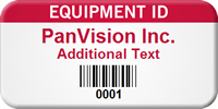 Custom Equipment Id Add Own Text Tag, Barcode