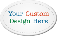 Oval Customizable Tag, Add Own Design (Full Color)