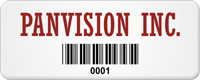 Design Company Info Tag with Barcode