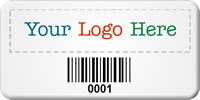 Personalized SunGuard Logo Barcode Asset Tags