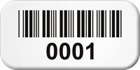 Pre-Numbered Sequential Barcode Labels, 0.5in. x 1in.
