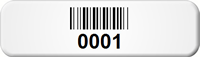 Custom Small Barcode Numbering Asset Tags