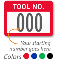TOOL NO., with consecutive numbering