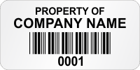 Customizable Super Economy Asset Labels With Company Name