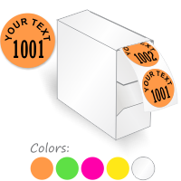 Custom Color Coded Consecutive Number Label, Add Text