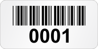 Customizable Super Economy Asset Labels With Barcode, Text