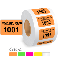 Customizable Color Coded Consecutively Numbered Labels Roll