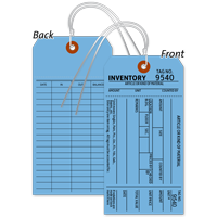 1-Part Blue Cardstock Tag With Wire