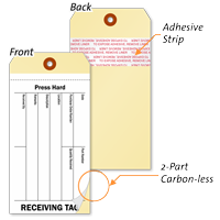 Combo Cardstock Inventory RECEIVING Tag