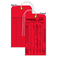 1-Part Red Cardstock Tag With String