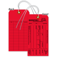 1-Part Red Cardstock Tag With Wire