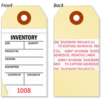 2 And 3-Part Inventory Tag