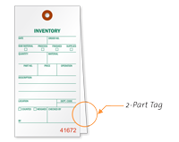 Inventory Count Order Number Tag