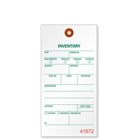 1-Part Tyvek Inventory Tag
