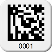 Custom 2D Barcode Asset Tags - Add Numbering