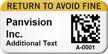 Custom 2D Return Avoid Fine Barcode Asset Tag